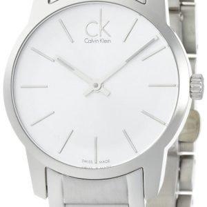 Calvin Klein City K2g23126 Kello Valkoinen / Teräs