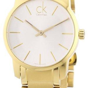 Calvin Klein City K2g23546 Kello Hopea / Kullansävytetty