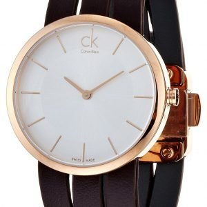 Calvin Klein Classic K2r2s6g6 Kello Valkoinen / Nahka