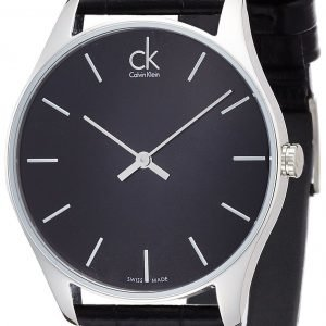Calvin Klein Classic K4d211c1 Kello Musta / Nahka