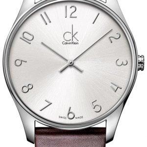 Calvin Klein Classic K4d211g6 Kello Hopea / Nahka
