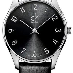 Calvin Klein Classic K4d221c1 Kello Musta / Nahka