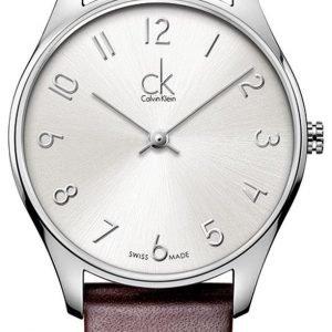 Calvin Klein Classic K4d221g6 Kello Hopea / Nahka