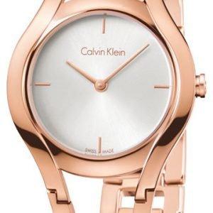 Calvin Klein Classic K6r23626 Kello Hopea / Punakultasävyinen