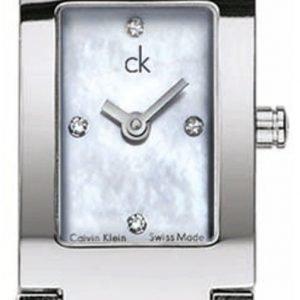 Calvin Klein Dress K0421167 Kello Valkoinen / Teräs