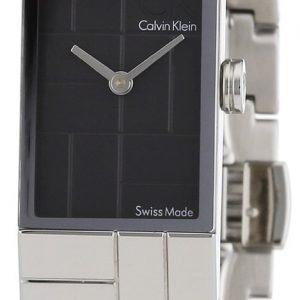 Calvin Klein Dress K0j23102 Kello Musta / Teräs