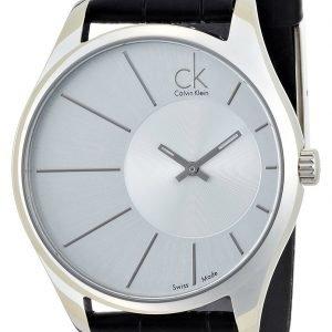 Calvin Klein Dress K0s21120 Kello Hopea / Nahka