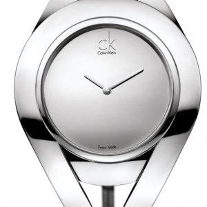 Calvin Klein Dress K1b23108 Kello Hopea / Nahka