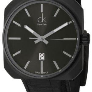 Calvin Klein Dress K1r21430 Kello Musta / Nahka