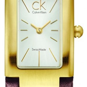 Calvin Klein Dress K5913226 Kello Hopea / Nahka