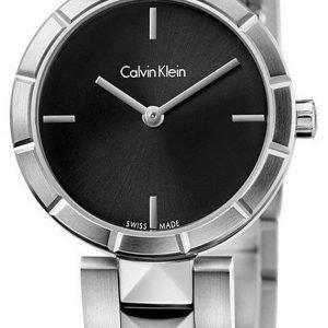 Calvin Klein Dress K5t33141 Kello Musta / Teräs