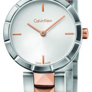 Calvin Klein Dress K5t33bz6 Kello Hopea / Punakultasävyinen