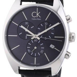 Calvin Klein Exchange K2f27107 Kello Musta / Nahka