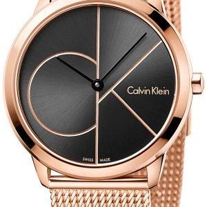 Calvin Klein Minimal K3m22621 Kello Musta / Punakultasävyinen