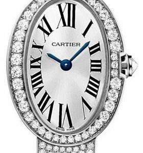 Cartier Baignoire Hpi00327 Kello Hopea / 18k Valkokultaa
