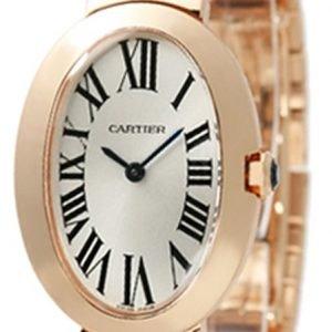 Cartier Baignoire W8000005 Kello Hopea / 18k Punakultaa