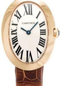 Cartier Baignoire W8000007 Kello Hopea / Nahka