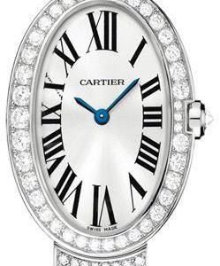 Cartier Baignoire Wb520011 Kello Hopea / 18k Valkokultaa