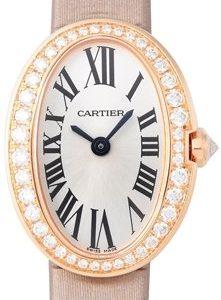 Cartier Baignoire Wb520028 Kello Hopea / Satiini