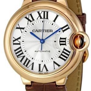 Cartier Ballon Bleu W6900456 Kello Hopea / Nahka