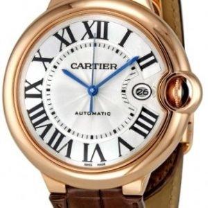 Cartier Ballon Bleu W6900651 Kello Hopea / Nahka