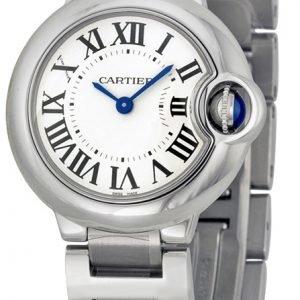 Cartier Ballon Bleu W69010z4 Kello Hopea / Teräs