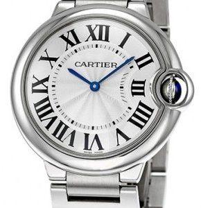 Cartier Ballon Bleu W69011z4 Kello Hopea / Teräs