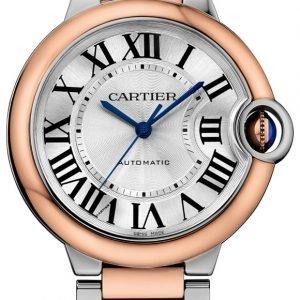 Cartier Ballon Blue W2bb0003 Kello Hopea / 18k Punakultaa