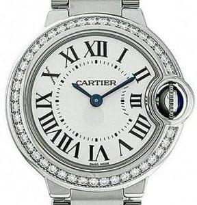Cartier Ballon Blue W4bb0015 Kello Hopea / Teräs