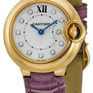 Cartier Ballon Blue We902050 Kello Hopea / Nahka