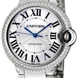 Cartier Ballon Blue Wjbb0008 Kello Hopea / 18k Valkokultaa