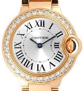 Cartier Ballon Blue Wjbb0015 Kello Hopea / 18k Punakultaa