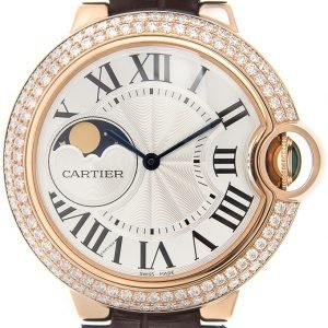 Cartier Ballon Blue Wjbb0027 Kello Hopea / Nahka