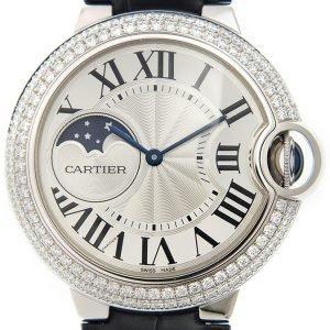 Cartier Ballon Blue Wjbb0028 Kello Hopea / Nahka