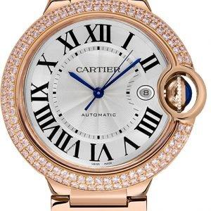 Cartier Ballon Blue Wjbb0029 Kello Hopea / 18k Punakultaa