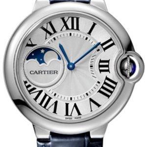 Cartier Ballon Blue Wsbb0020 Kello Hopea / Nahka
