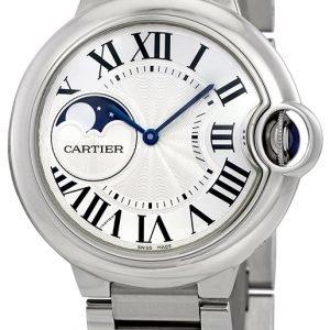 Cartier Ballon Blue Wsbb0021 Kello Hopea / Teräs