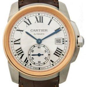 Cartier Calibre De Cartier W2ca0002 Kello Hopea / Nahka