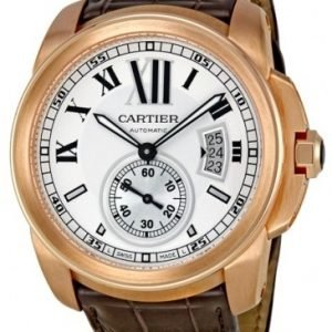 Cartier Calibre De Cartier W7100009 Kello Hopea / Nahka