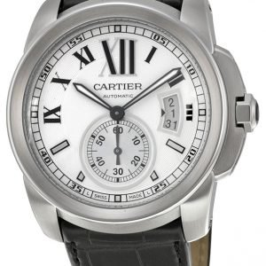 Cartier Calibre De Cartier W7100037 Kello Hopea / Nahka