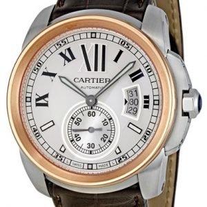 Cartier Calibre De Cartier W7100039 Kello Hopea / Nahka
