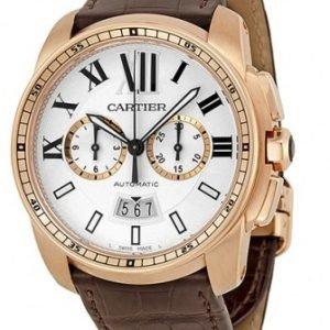 Cartier Calibre De Cartier W7100044 Kello Hopea / Nahka