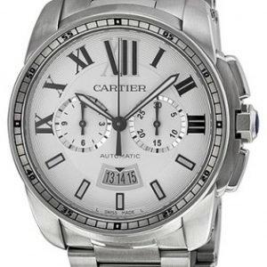 Cartier Calibre De Cartier W7100045 Kello Hopea / Teräs