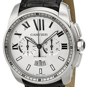 Cartier Calibre De Cartier W7100046 Kello Hopea / Nahka