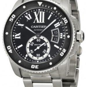 Cartier Calibre De Cartier W7100057 Kello Musta / Teräs