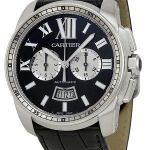 Cartier Calibre De Cartier W7100060 Kello Musta / Nahka