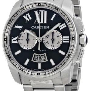 Cartier Calibre De Cartier W7100061 Kello Musta / Teräs