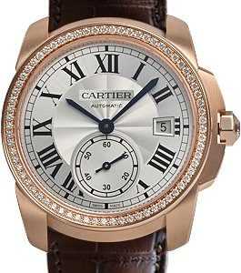 Cartier Calibre De Cartier Wf100013 Kello Hopea / Nahka