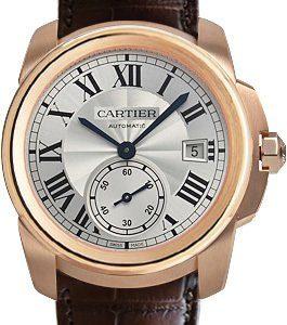 Cartier Calibre De Cartier Wgca0003 Kello Hopea / Nahka
