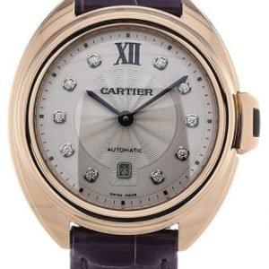 Cartier Calibre De Cartier Wjcl0031 Kello Hopea / Nahka